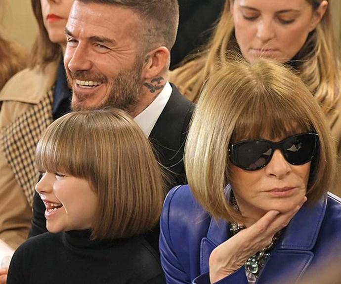 Harper Beckham and Anna Wintour's priceless twinning moment