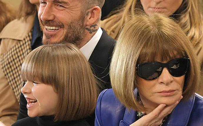 Harper Beckham and Anna Wintour's priceless twinning moment