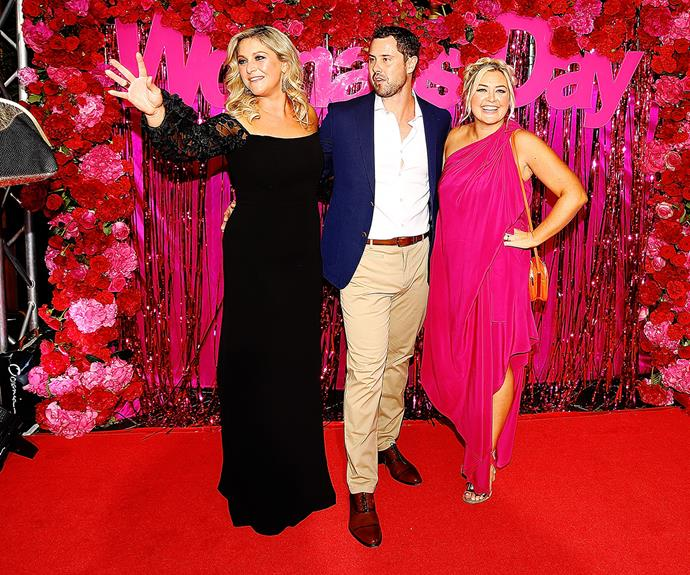 Sarah at the 2017 TV Awards with co-hosts Toni Street and Sam Wallace.