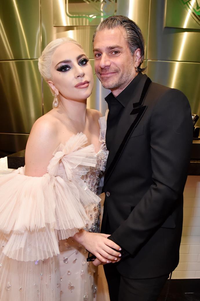 Lady Gaga and Christian Carino at last year's Grammy Awards. *(Image: Getty)*