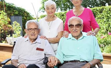 Kiwi brothers celebrate 70 years of marriage with their wives together