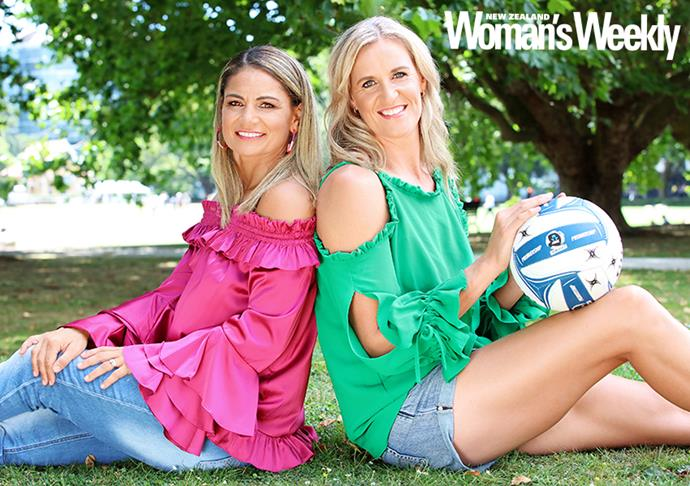 Teammates once more! The friends played for the Silver Ferns for eight years.