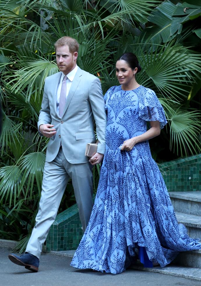 The couple wowed when they made their way to the Royal Residence to meet with the King of Morocco. *(Image: Getty)*