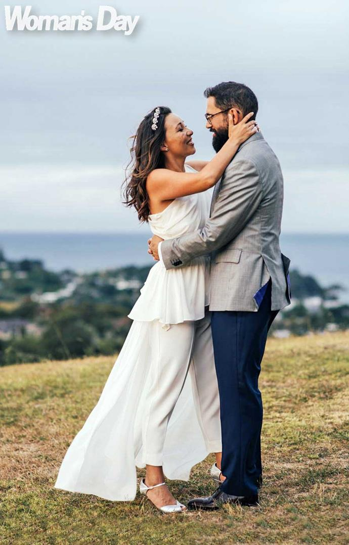 """Marrying on Waiheke was a given. """"It always feels like you're on holiday here,"""" says Melissa. """"The first time Caspar went he was like, 'I want to get married here.'"""" *Photo: Libby Robinson*"""