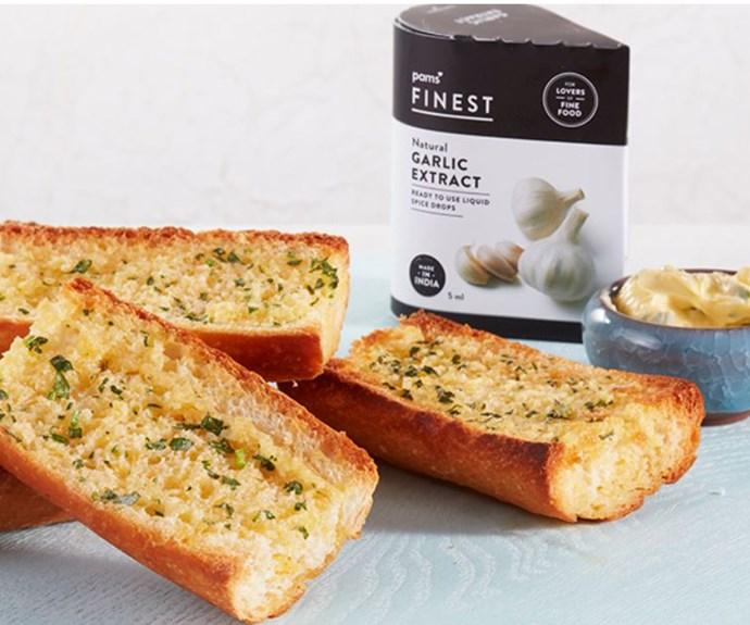 Pams Spice Drops Garlic Bread