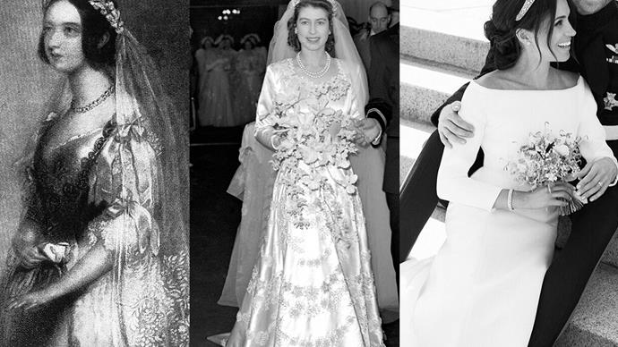 queen victoria queen elizabeth and meghan markle on their wedding day