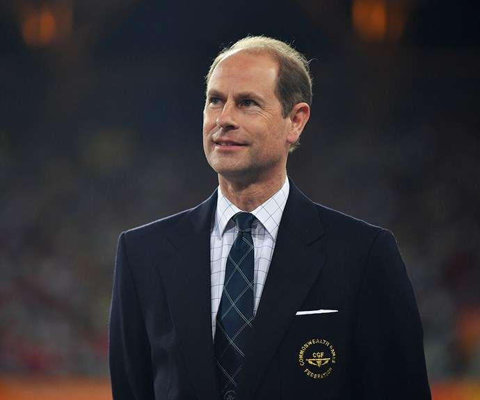 Prince Edward at the commonwealth games 2018