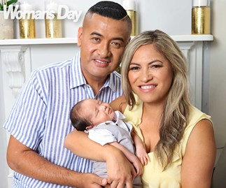 Casketeers stars Francis and Kaiora Tipene introduce their beautiful baby boy