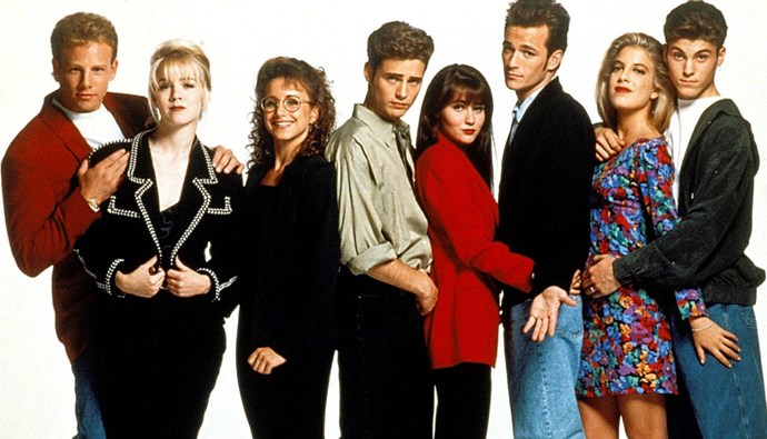 Luke became an instant heartthrob when he starred in the 90s drama Beverly Hills 90210.