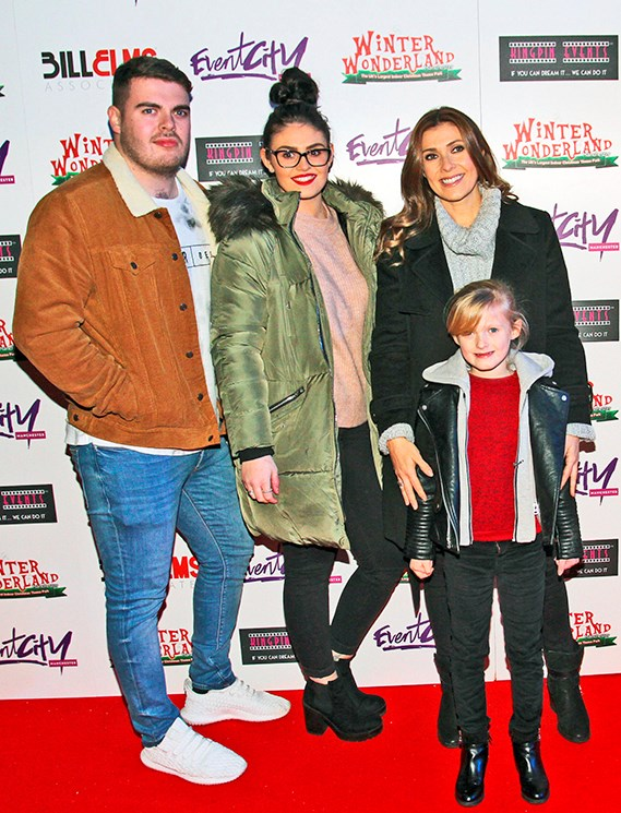 Kym with her kids, David, Emilie and Polly.