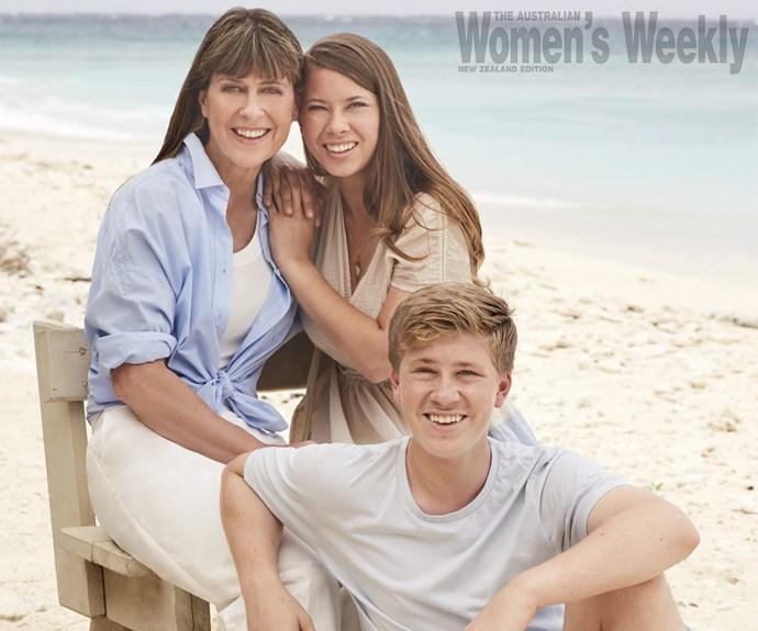 The Irwin family Terri Irwin Bindi Irwin Robert Irwin