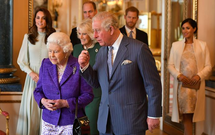 The Queen hosted the celebrations for Prince Charles at Buckingham Palace. *(Image: Getty)*