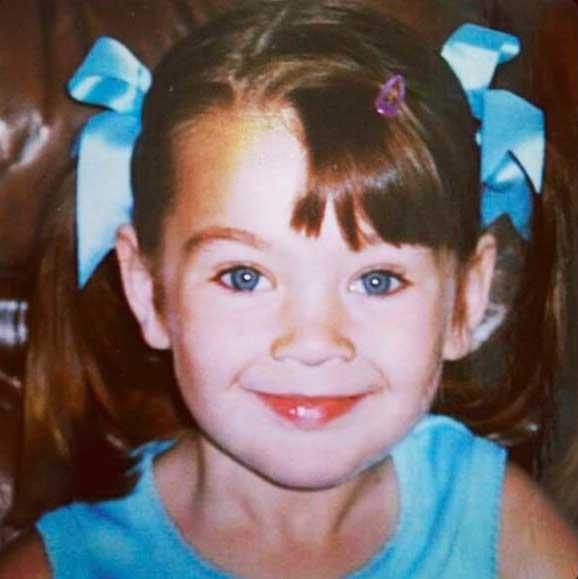 Chloe, aged three.