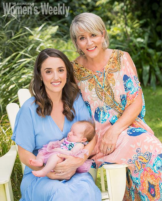 Three generations: Amanda, Tennessee and baby Augusta.