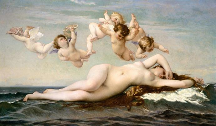 The birth of Venus, by Alexandre Cabanel 1875 *Image: Shutterstock*