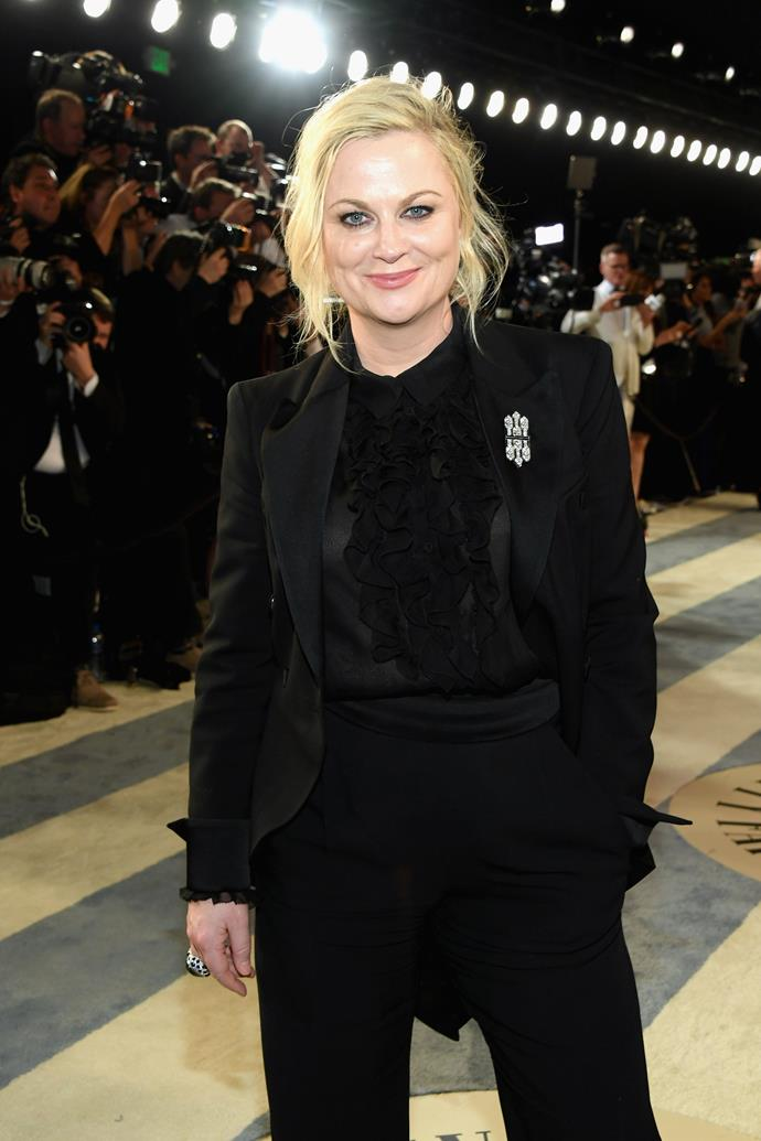 "**Amy Poehler**  ""I just love bossy women. I could be around them all day. To me, bossy is not a pejorative term at all. It means someone's passionate and engaged and ambitious and doesn't mind learning."""