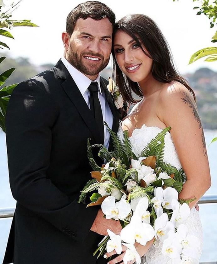 Dan and Tamara on their wedding day.