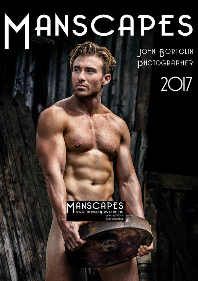 Billy leaves little to the imagination in the 2017 calendar cover. *Photo: John Bortolin*