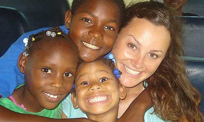 Working with children overseas inspired Kristina's work here.