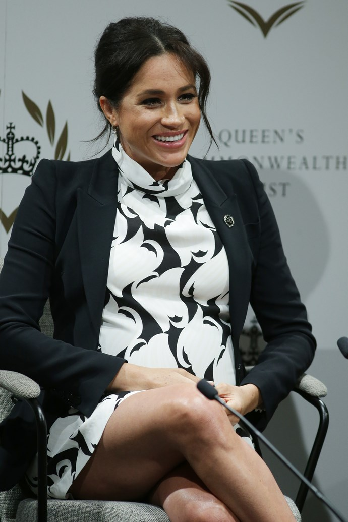 A passionate feminist, Meghan spoke about how it's important for men and boys to be part of the feminist discussion, adding that Prince Harry was of course a feminist too. *(Image: Getty)*
