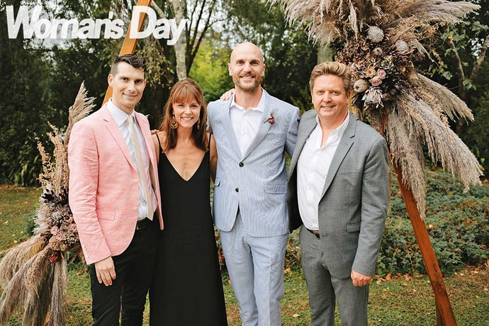 Ben with his *Shortland Street* pals (from left) Sam Bunkall, Ria Vandervis and Michael Galvin.