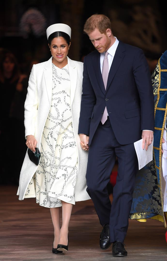 The Duchess made an outfit change for the celebrations at Westminster Abbey. *(Image: Getty)*