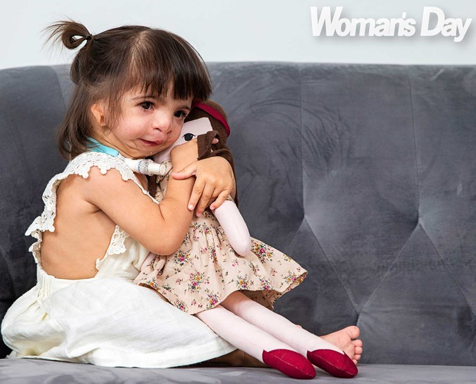 With her favourite doll Ruby.