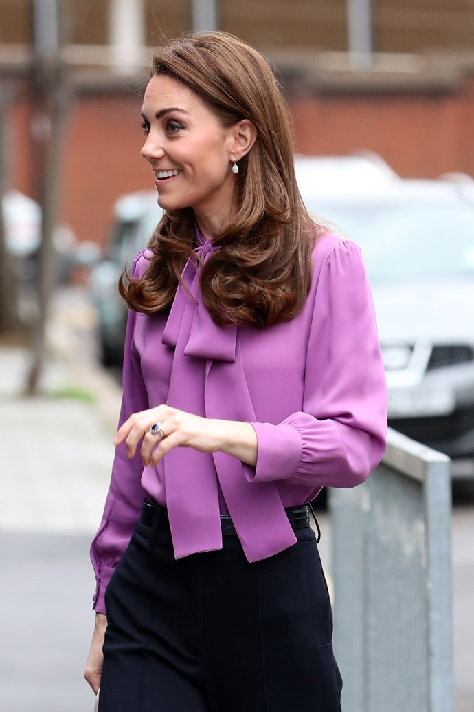 The Duchess of Cambridge has revealed Prince Louis keeps her on her toes! *(Image: Getty)*