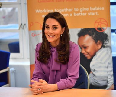 """Duchess Catherine reveals 10-month-old Prince Louis is """"bombing around"""" with his baby walker"""