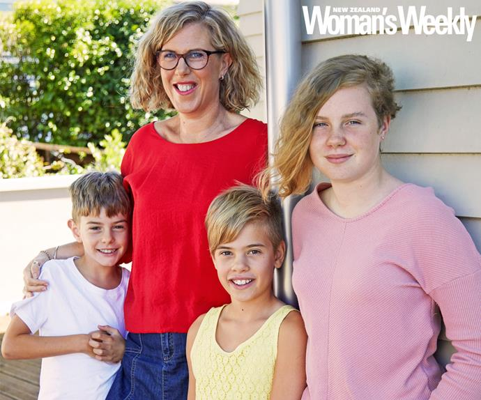 Nicola Sumich and children
