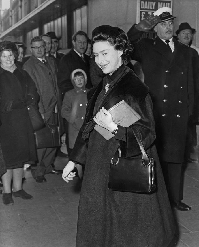 **Princess Margaret, 1964**  The Countess of Snowdon was heavily pregnant with her second child, Lady Sarah Chatto and this image just happened to be captured the same day her nephew, Prince Edward, was born! *(Image: Getty)*