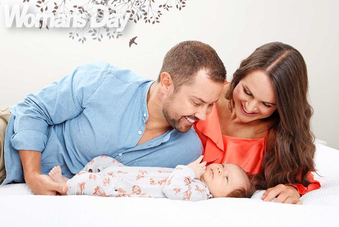 """""""It's really such a magical thing watching your partner become a dad,"""" says Sarah. """"Sam has just been amazing."""""""