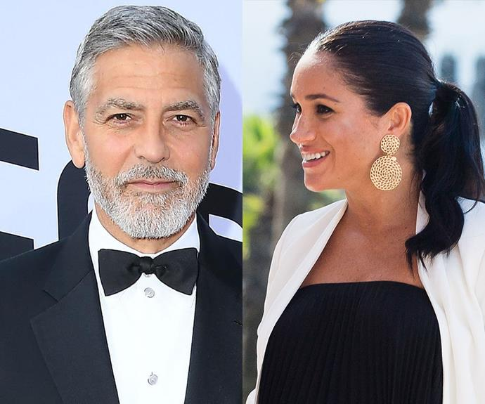 """She's a really kind and smart and intelligent young woman,"" George Clooney has said about his friend Meghan. *(Images: Getty)*"