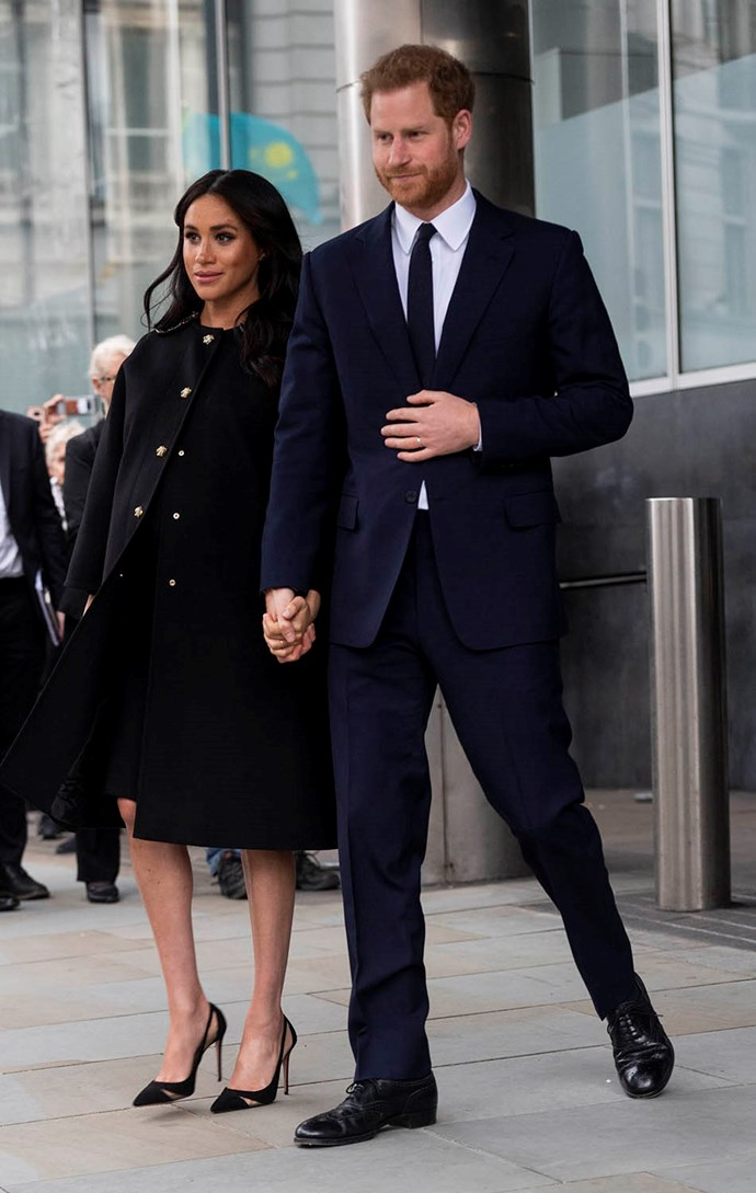 The Sussexes left bouquets of flowers outside the front of New Zealand house. *(Image: Getty)*