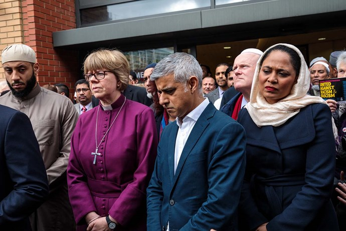Sadiq Khan at a vigil at the East London Mosque, following the terror attacks in Christchurch on March 15.