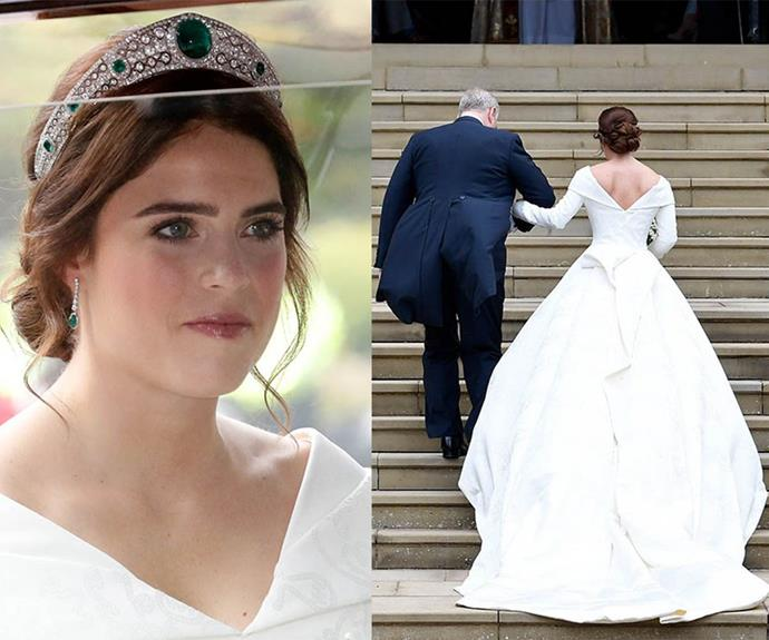 "The throwback pics wouldn't be complete without images from the [Princess' beautiful wedding in October 2018](https://www.nowtolove.co.nz/celebrity/royals/princess-eugenies-royal-wedding-all-the-best-moments-from-the-carriage-procession-39395|target=""_blank""). The Princess, who underwent surgery to correct her scoliosis when she was 12 years old, intentionally chose a dress design that would show the the scar down her spine. <br><br> ""I believe scars tell a story about your past and your future and it's a way of getting rid of the taboo,"" [the Princess has said](https://www.nowtolove.co.nz/celebrity/royals/royal-wedding-dresses-throughout-the-years-40699