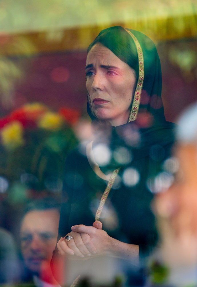 When a picture tells a thousand words. An image by photographer Kirk Hargreaves of the Prime Minister during her visit with the Christchurch Muslim community on Saturday.