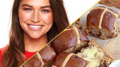 Cassidy in the Kitchen: Bravo NZ host Cassidy Morris shares her healthy twist on the classic hot cross bun recipe