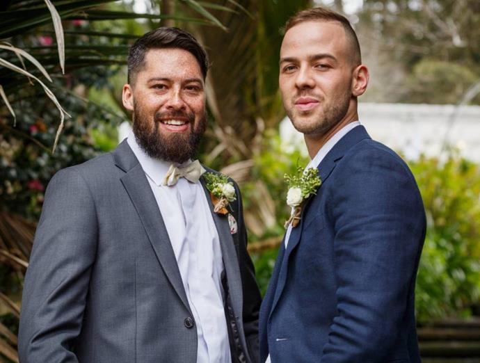 Tayler and Sam at their 2018 wedding.