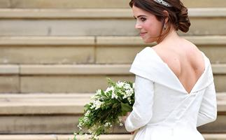 princess eugenie on her wedding day
