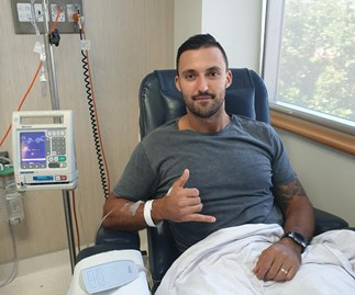 Nic Jovanovic testicular cancer returns for second time