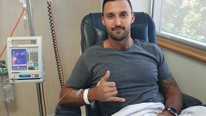 Nic Jovanovic testicular cancer returns for second time