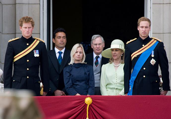 Gary Lewis and Lady Davina Windsor during at Trooping the Colour with Prince Harry and Prince William. *(Image: Getty)*