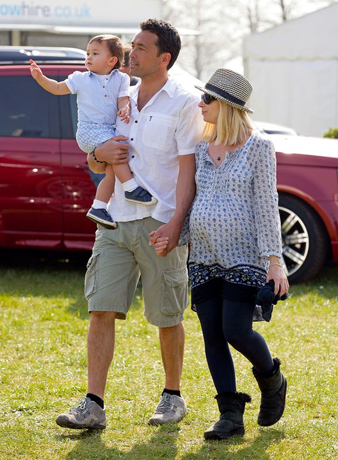 Gary Lewis and Lady Davina Windsor with their daughter Senna Kowhai, now eight. *(Image: Getty)*