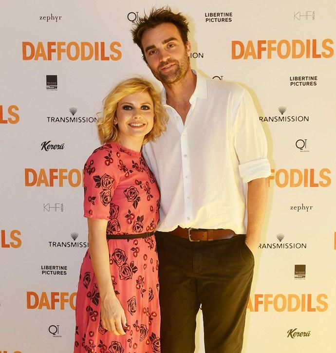 The star with her boyfriend, Aussie photographer George Byrne.