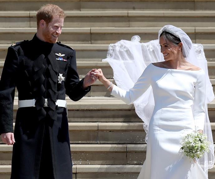 The Duke and Duchess of Sussex on their wedding day, May 19, 2018. *Image: Getty Images*