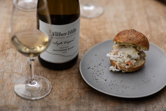 Our sauv tasting was matched with a Kaikoura crayfish focaccia roll with béarnaise butter.