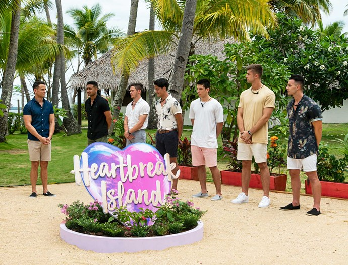 Aside from his new business, Mark has been busy with his Fiji-based hosting duties on the second season of *Heartbreak Island*.