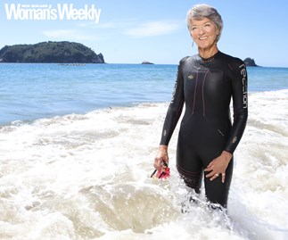 Judie Johnson swam with orcas Hahei New Zealand