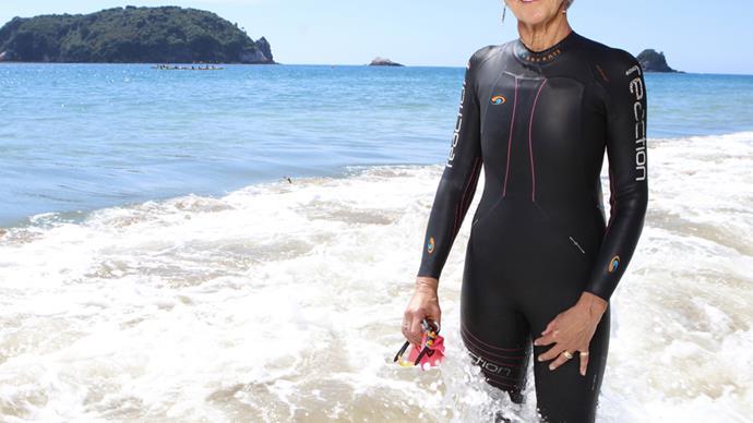 Judie Johnson swam with orcas Hahei New Zealand